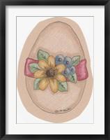 Daisy Egg Framed Print