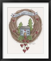 Framed Sweet Home Wreath