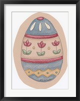 Tulip Striped Egg Framed Print
