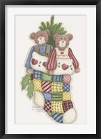 Bear Stocking Framed Print