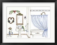 Country Bath 1 Framed Print