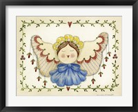 Blue Bow Angel Framed Print