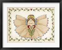 Ruffled Angel Framed Print