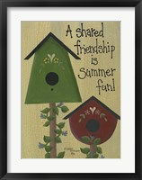 A Shared Friendship Framed Print