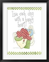 Happy Heart Framed Print