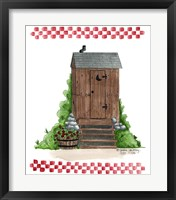 Wooden Outhouse Framed Print