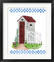 Grey Outhouse Framed Print