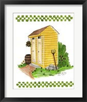 Framed Yellow Double Outhouse