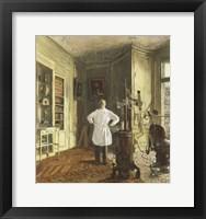 Framed Dentist Louis Viau in His Office, 1937