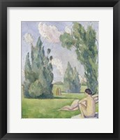 Framed Nude in a Landscape, 1890
