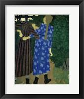 Framed Girls Walking, c. 1891-92