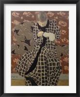 Framed Woman Mending