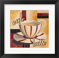 Framed Cafe Latte