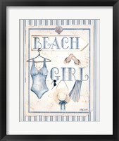 Framed Beach Girl
