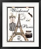 Framed Weekend In Paris