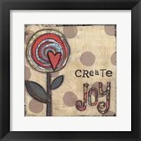 Framed Create Joy Flower