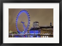 Framed Blue Ferris Wheel