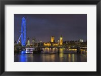 Framed Thames at Night