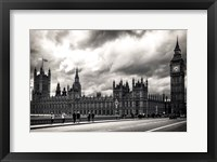 Framed Houses of Parliament B/W