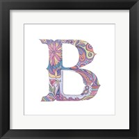 B Framed Print
