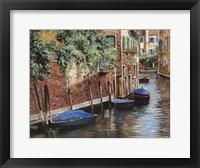 Framed Barche Blu A Venezia
