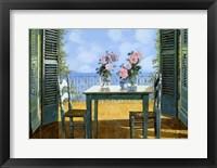 Framed Le Rose E Il Balcone