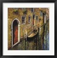 Framed La Gondola Sul Canale