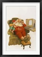Framed Santa Learning Computer