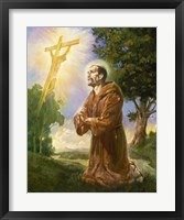 Framed Saint Francis Of Assisi