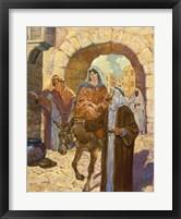 Framed Bethlehem Scene