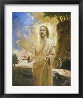 Framed Jesus In Front Of Cave