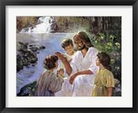 Framed Christ And The Children