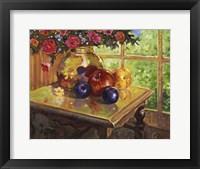 Framed Fruit And Flowers