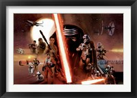 Framed Star Wars 7 TFA - Group