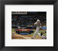 Framed David Ortiz hits his 500th career MLB home run on September 12, 2015 at Tropicana Field
