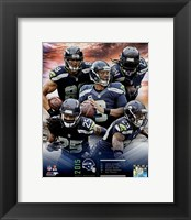 Framed Seattle Seahawks 2015 Team Composite