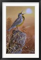 Framed Meadowlark Painting