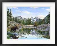Framed Moose Painting 2