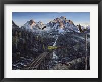 Framed Train & Eagle
