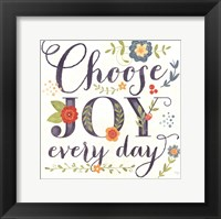 Framed Choose Joy Every Day
