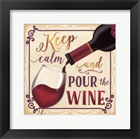 Pour the Wine Framed Print
