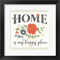 Happy Home Framed Print