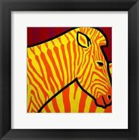 Cadmium Zebra 1 Framed Print