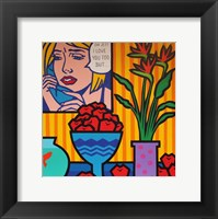 Homage To Lichtenstein And Wesselman Framed Print