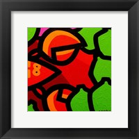 Lobster And Seven Limes Framed Print