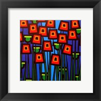 Night Poppies Framed Print