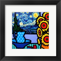 Still Life With Starry Night Framed Print