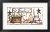 Framed Brown Eggs