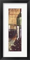 Framed Cabernet Sauvignon