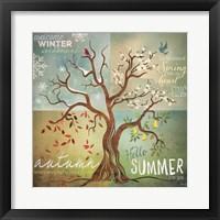 Framed Four Seasons Tree
